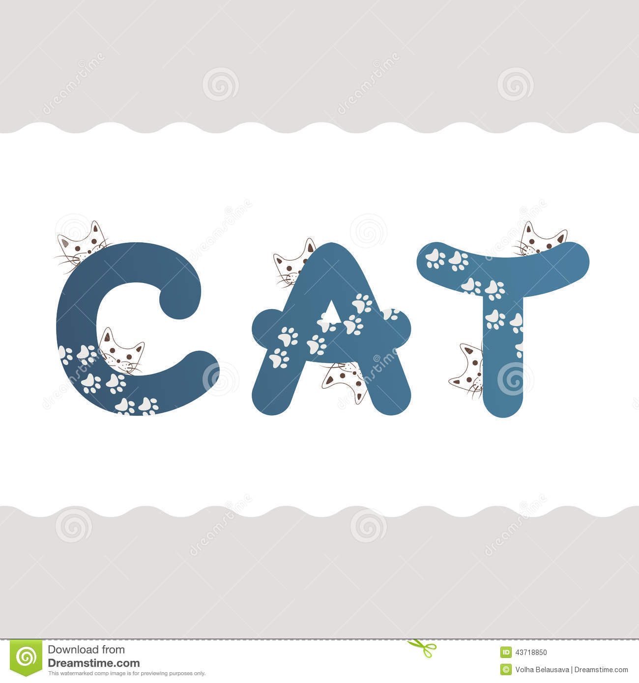 Free Clipart For All Letters With Cats
