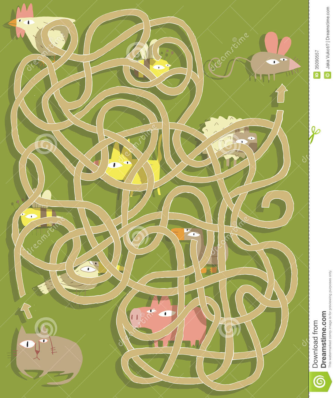 Cat And Mouse Maze Game