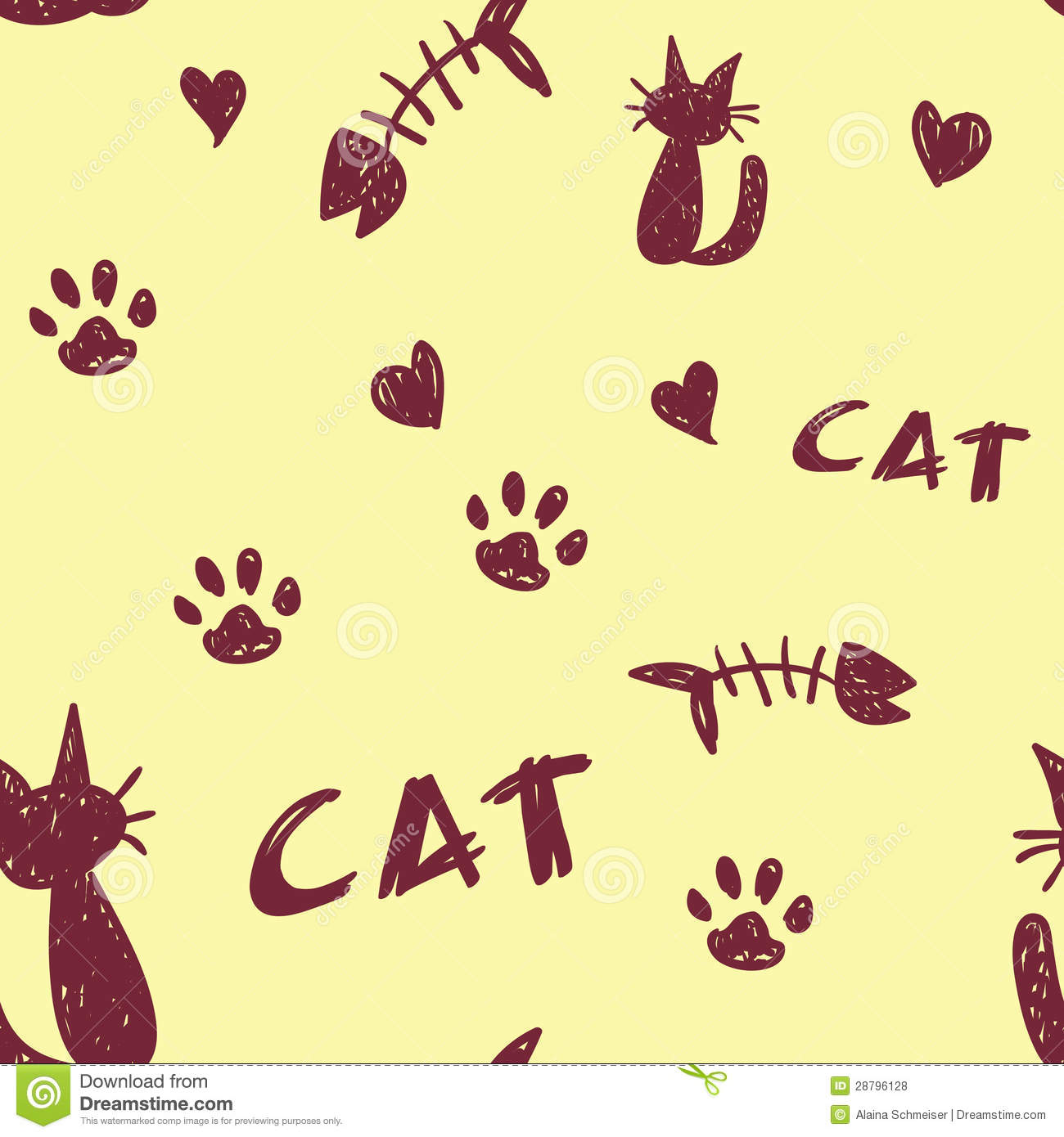 Cat Pattern stock photo. Image of foot, wallpaper, kitten ...