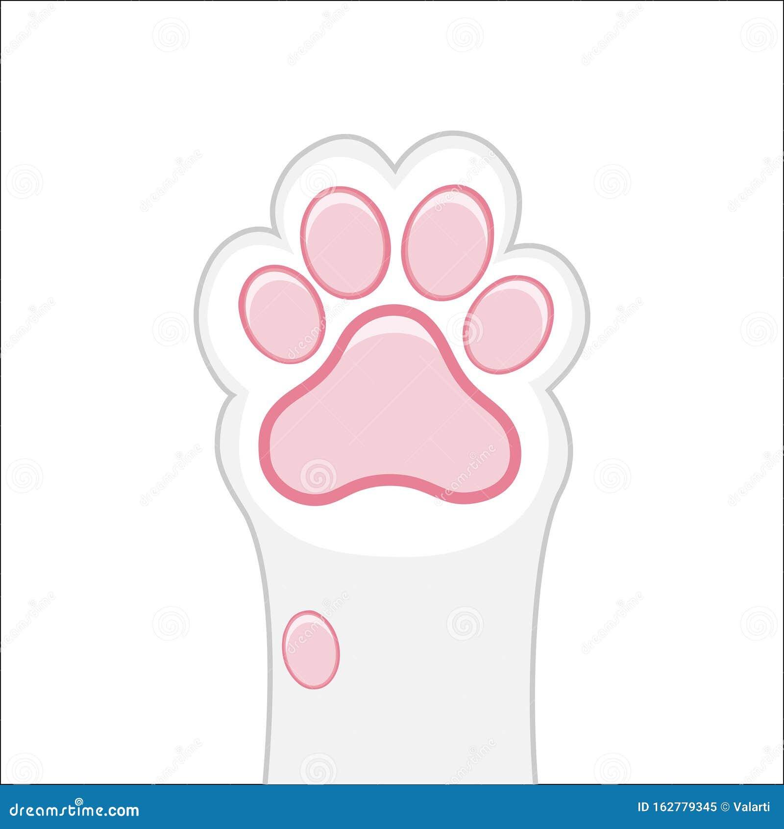 Cat Paw Background Kitten Flat Design Prints Cartoon Cute Cat Foot Wallpaper Vector Illustration Stock Vector Illustration Of Graphic Isolated 162779345