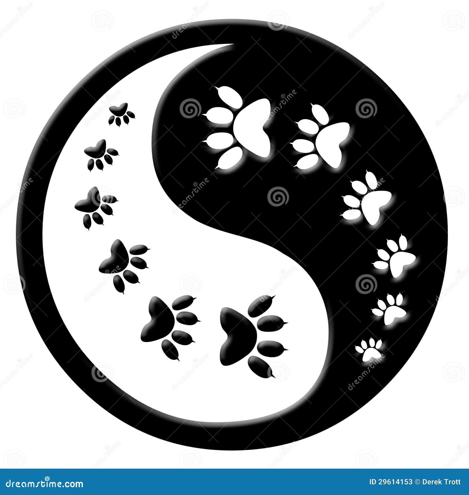 Black Cat Peace Sign