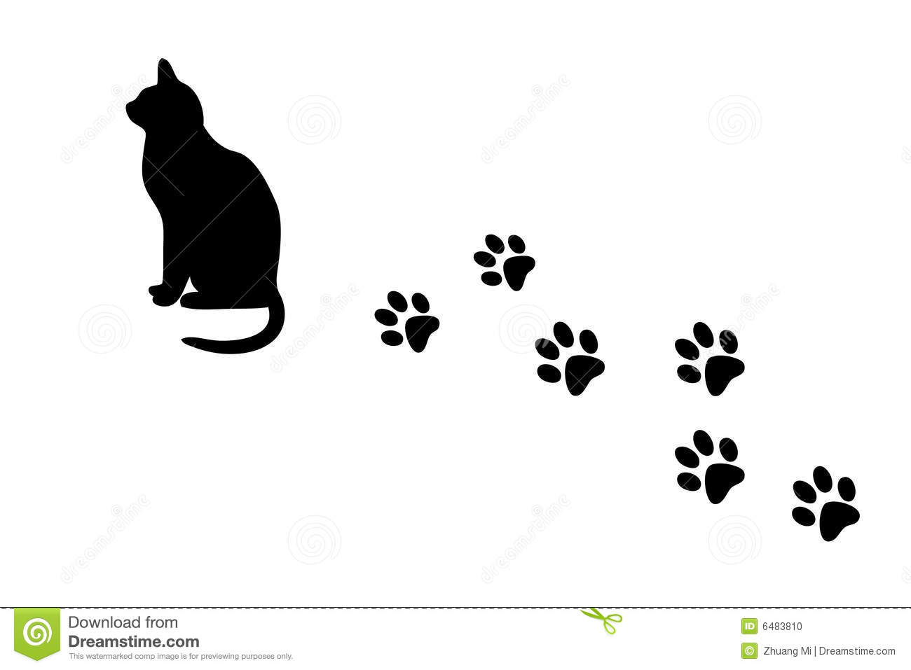 Cartoon Black Cat Walking