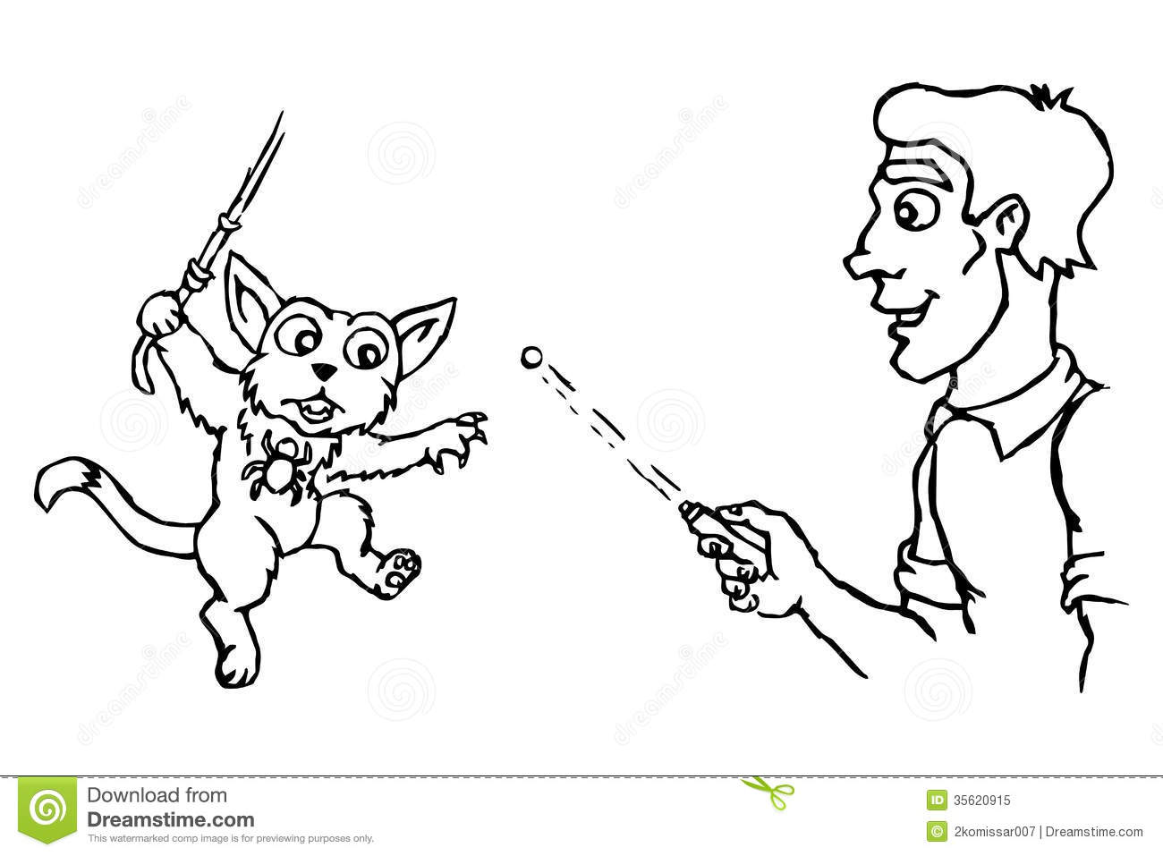 cat plays stock vector illustration of position animal 35620915