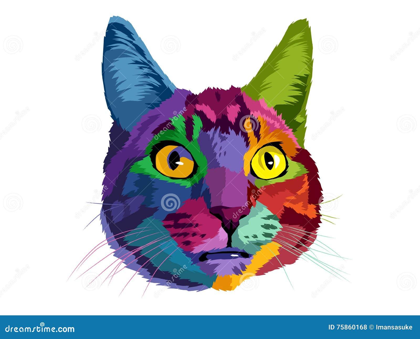 cat pop art stock illustration illustration of show 75860168
