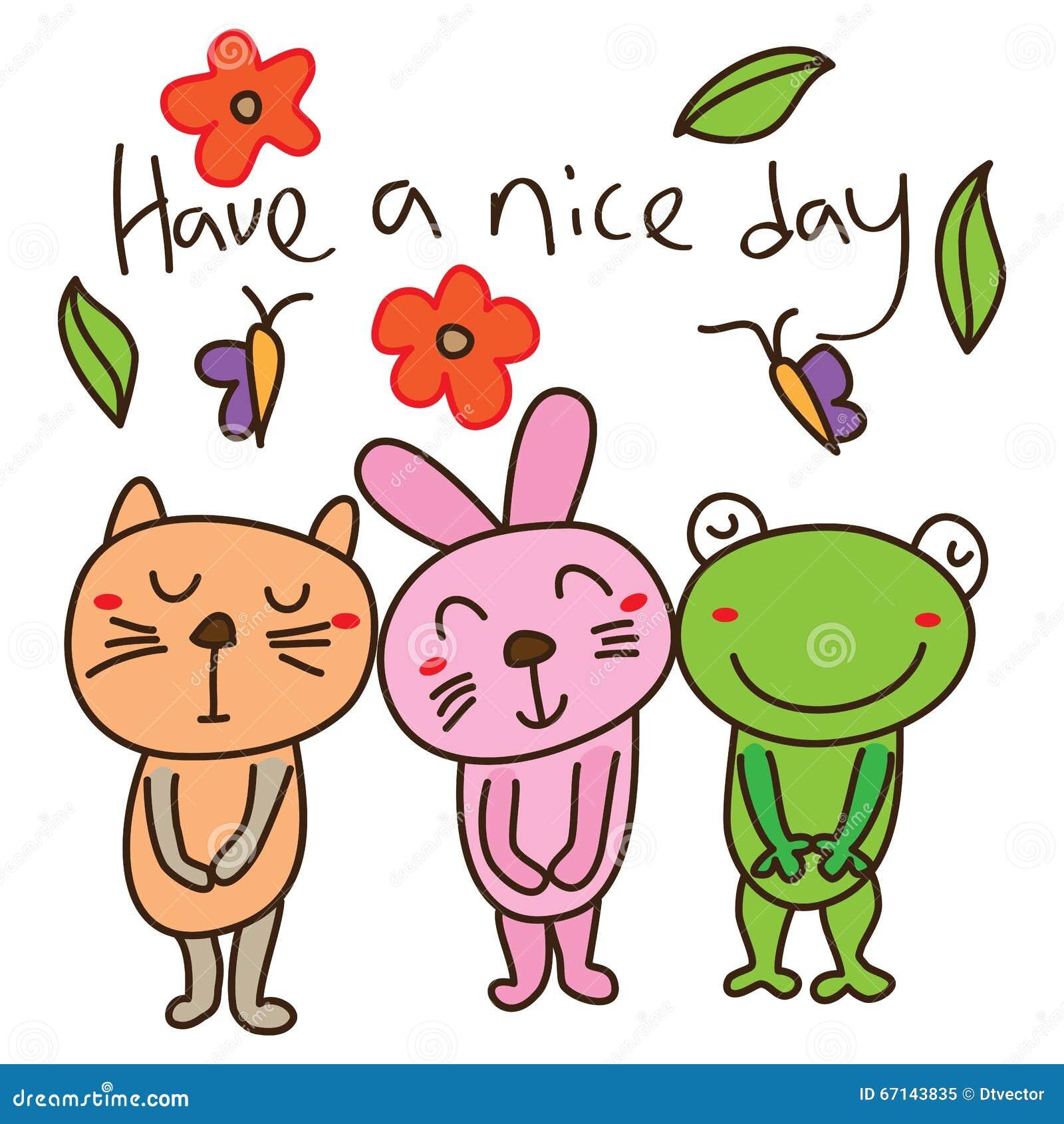 cat rabbit frog template card stock vector image 67143835