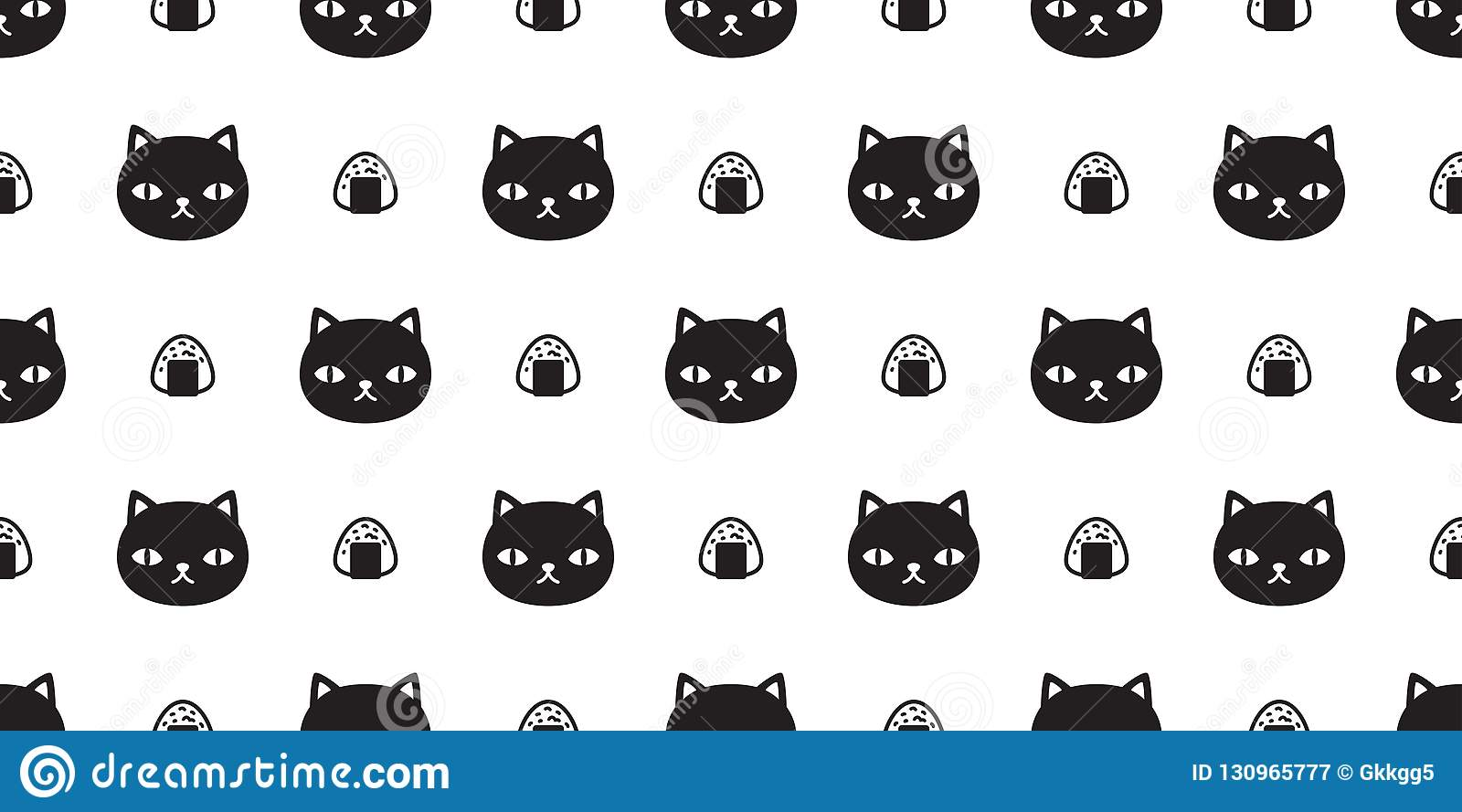 Cat Seamless Pattern Vector Sushi Kitten Calico Japanese