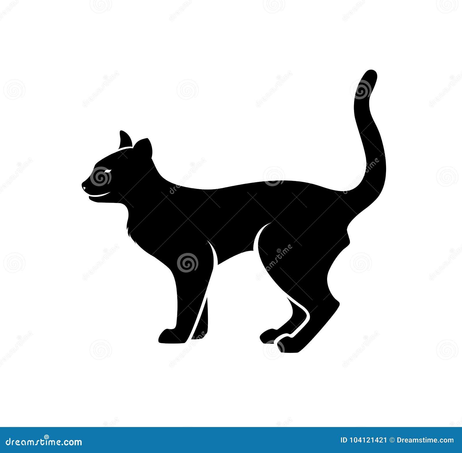 Cat Silhouette Vector selvaggia