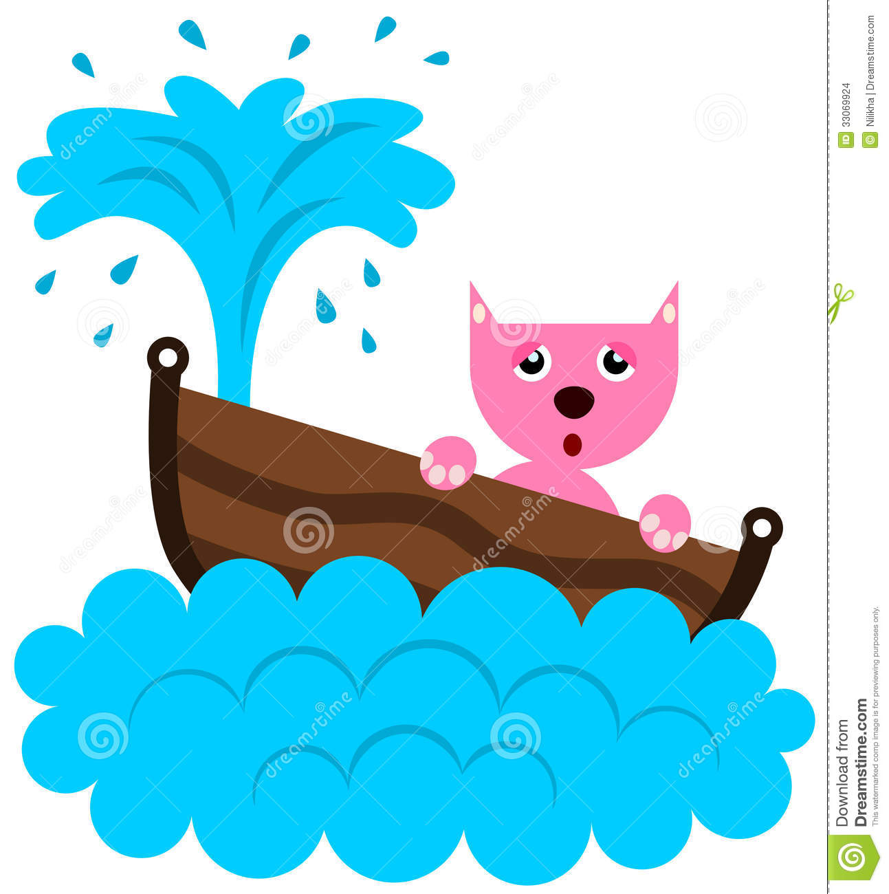 Cat Sinks Stock Images Image 33069924