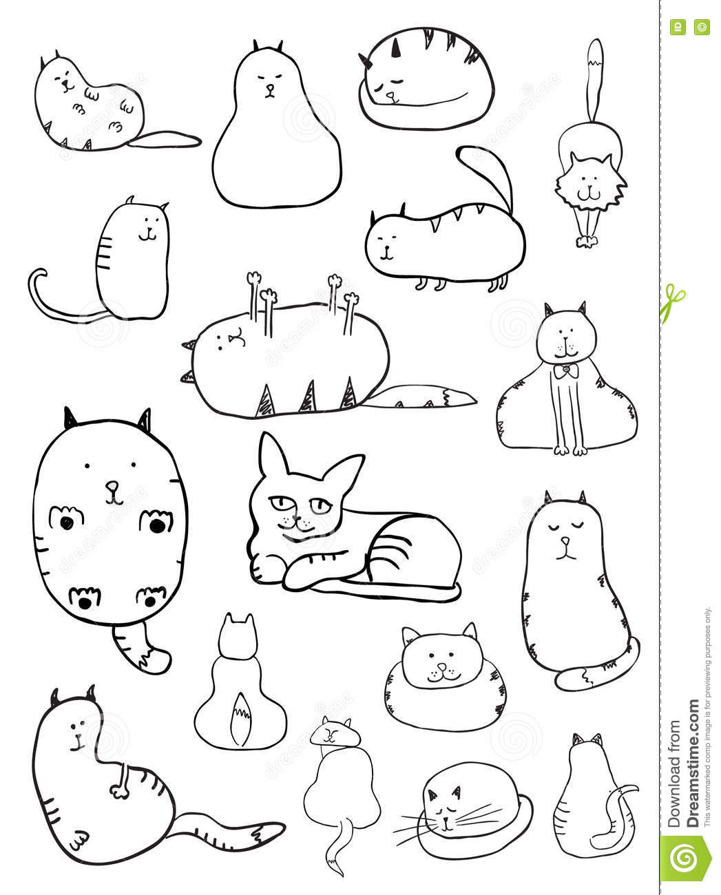 cat sketches stock vector illustration of grace doodle 63926295