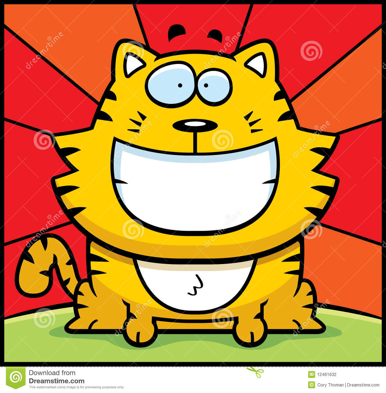 Cat Smiling Stock Photography - Image: 12461632