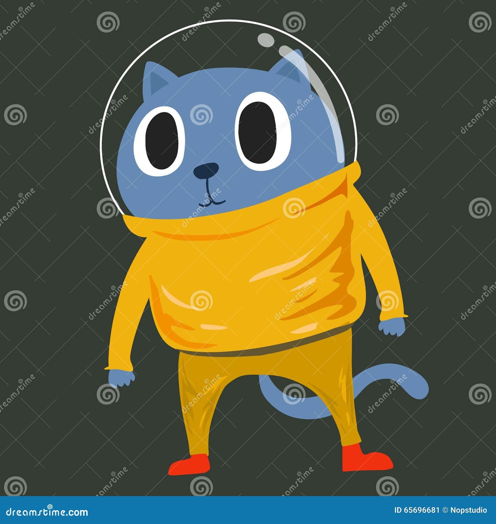 Cat in space suit stock vector. Image of uniform ...