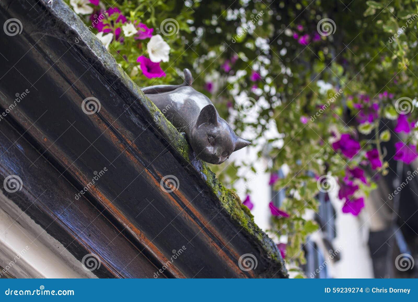 Download Cat Statue en York foto de archivo. Imagen de ciudades - 59239274