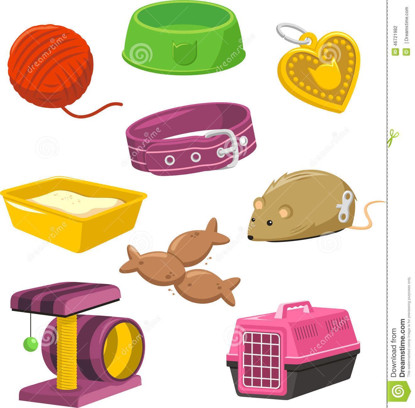 Toy Food Clip Art : Cat stuff toy set stock illustration of