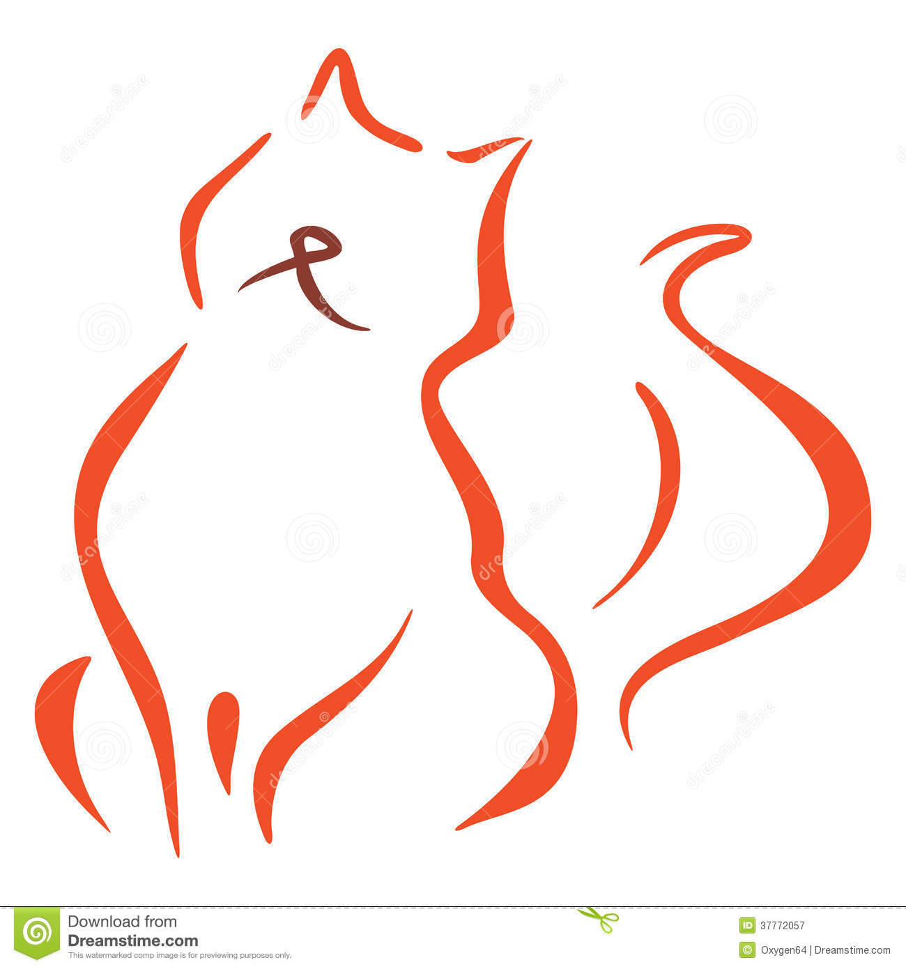 Cat Symbol Royalty Free Stock Photography - Image: 37772057