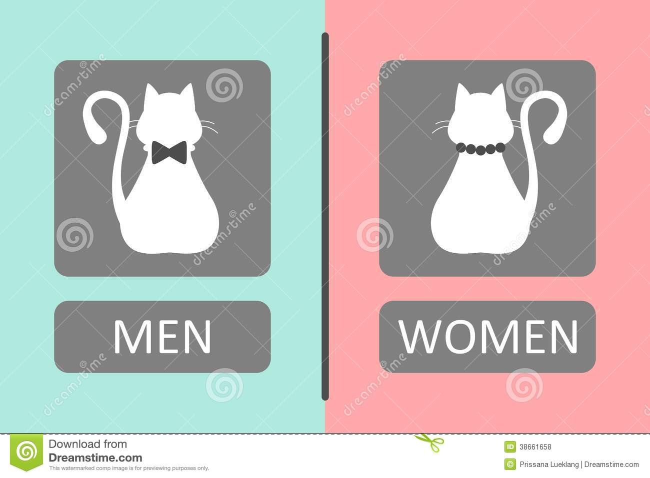 Cat Toilet Sign Stock Illustration Of