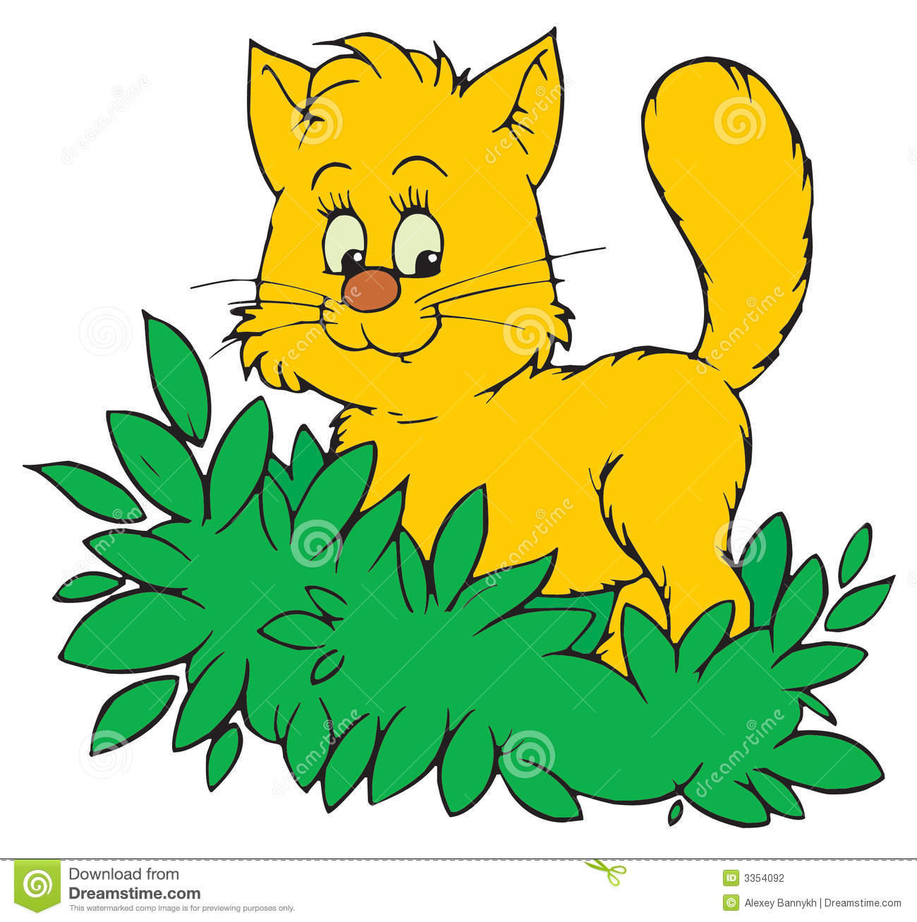cat vector clip art stock vector illustration of color 3354092 rh dreamstime com clipart cats for free clipart cats for free