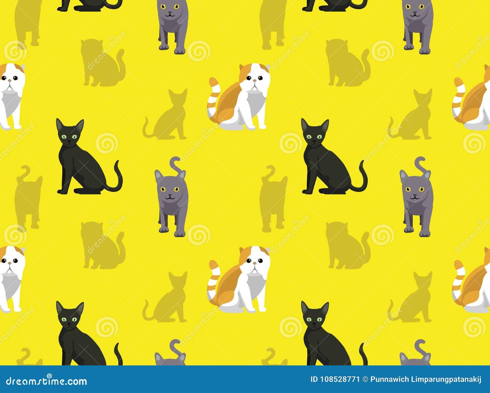 Cat Wallpaper 8 Stock Vector Illustration Of Domestic 108528771