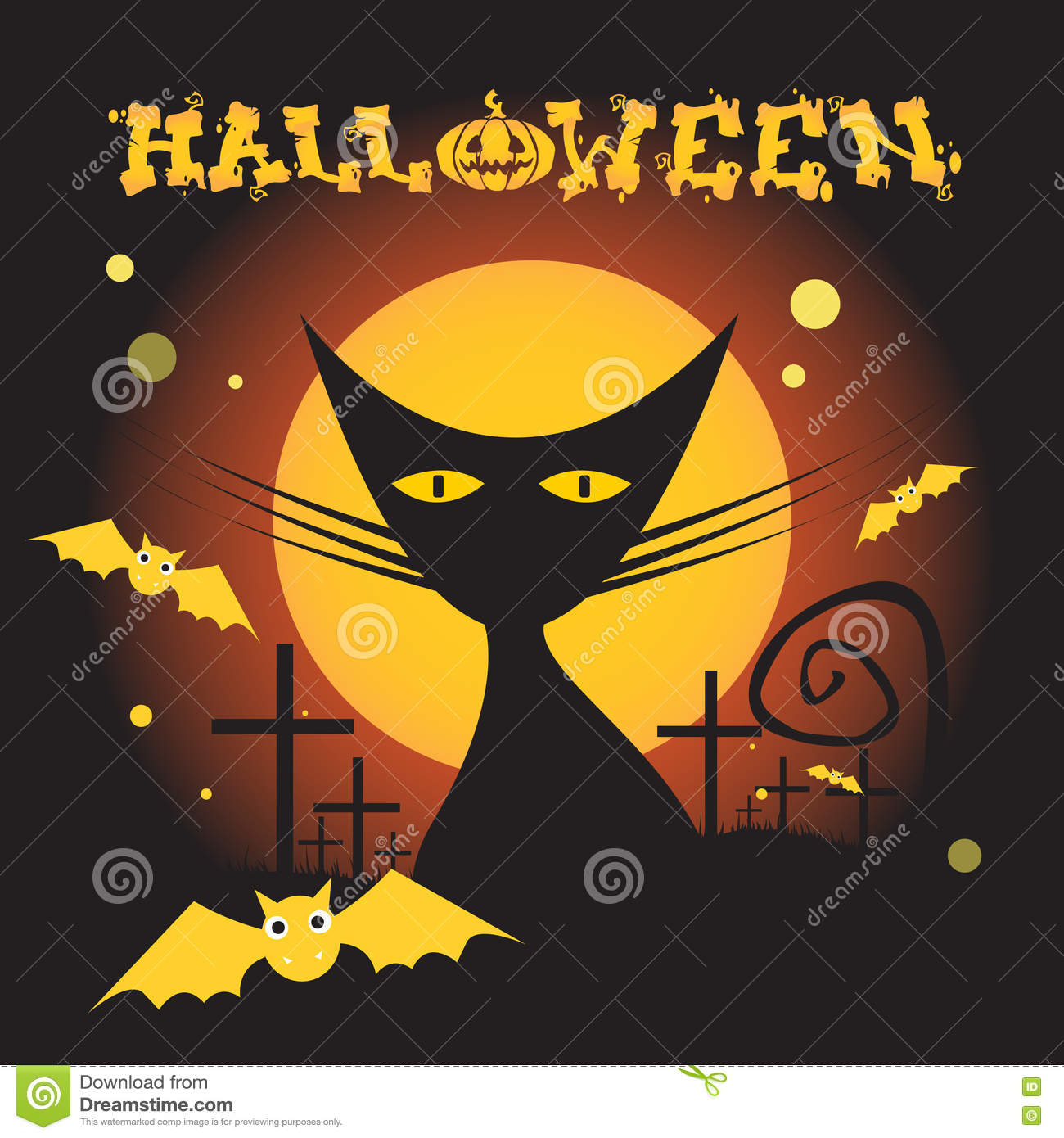 Cat Witch Flat Icon Halloween