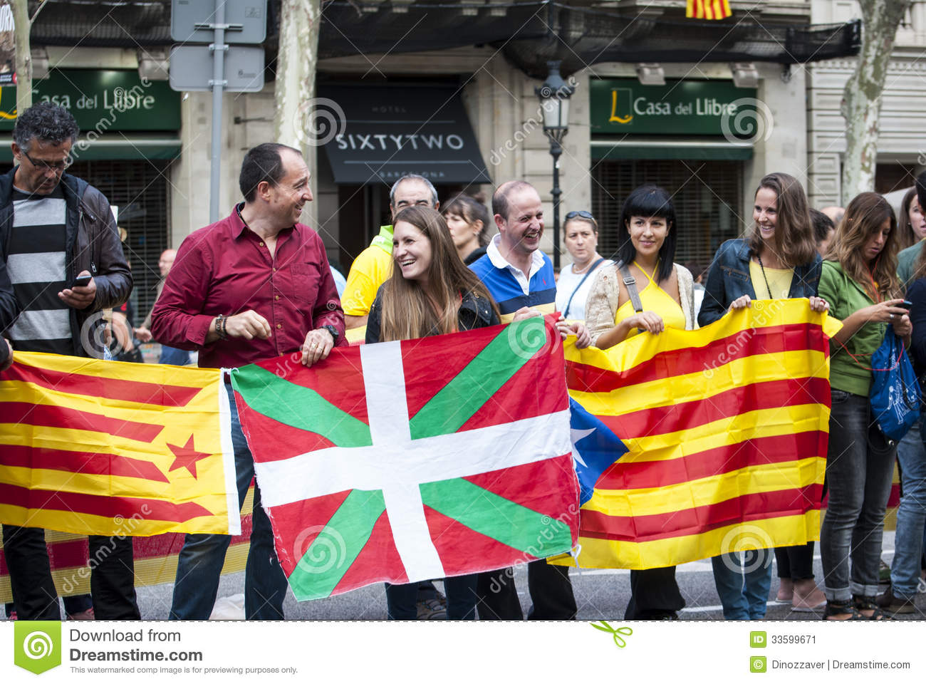 Catalan Way, Human Chain For Demanding The Independence Of ...