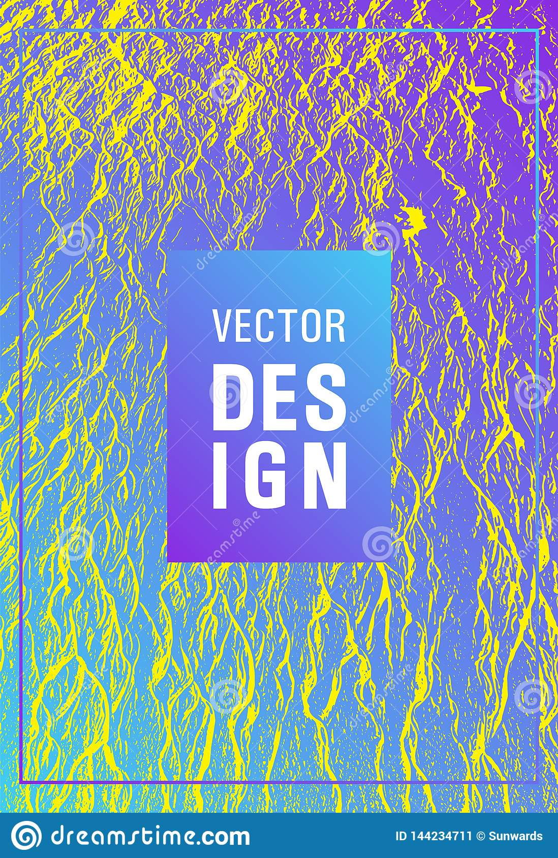 Catalog cover vector template.