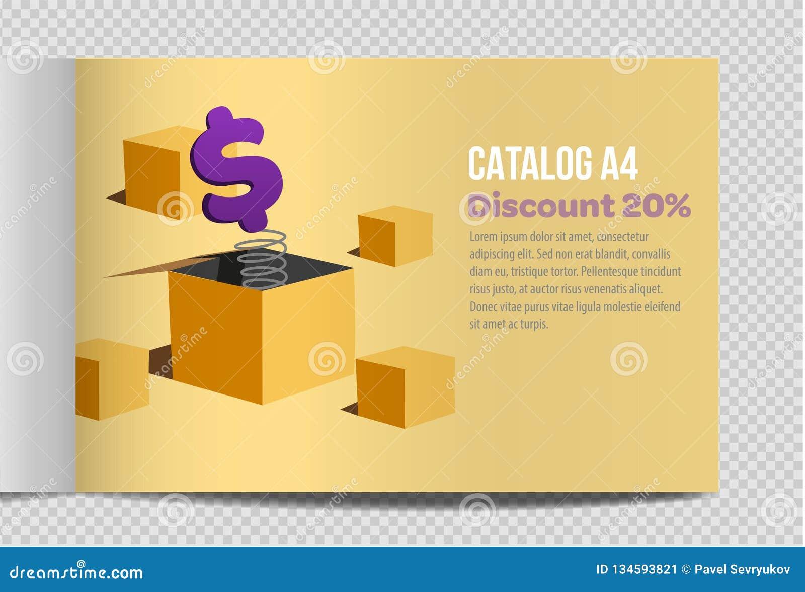 Fast vector catalog A4 sheet illustration promotion
