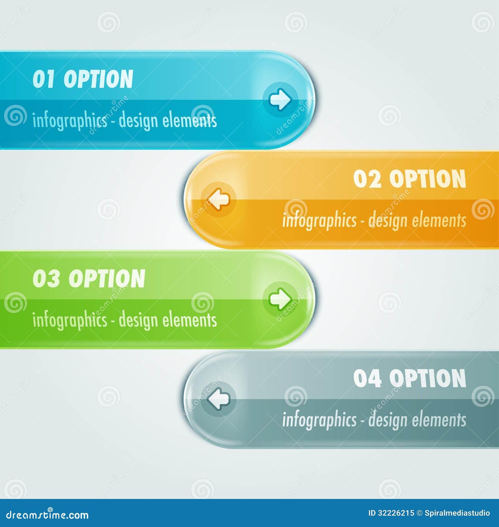 Download Cataloga Infographic Com Quatro Opções Ilustração do Vetor - Ilustração de bandeira, etapa: 32226215
