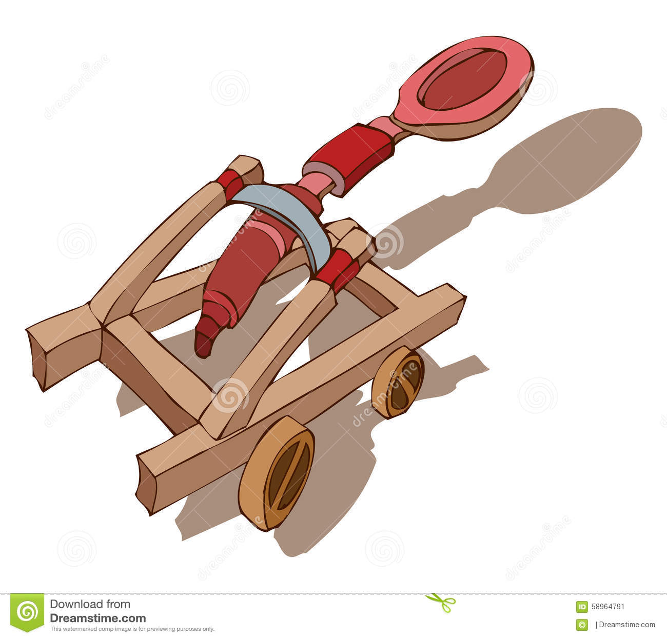 Catapult Vector Illustration. Stock Vector - Image: 58964791
