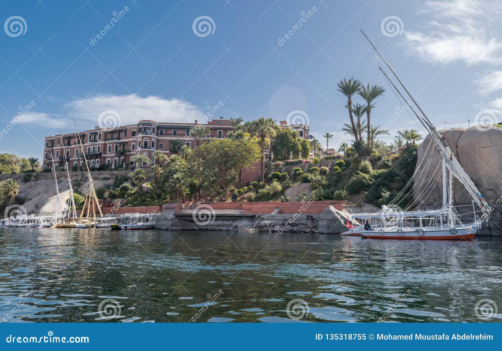 Catarata vieja Asuán, Egipto de la leyenda de Sofitel del hotel