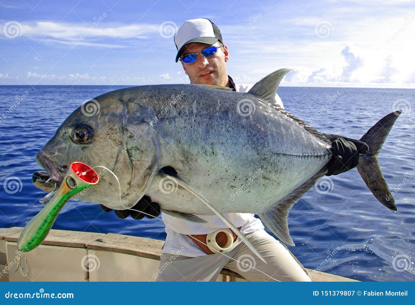 Deep sea fishing. Trevally jack