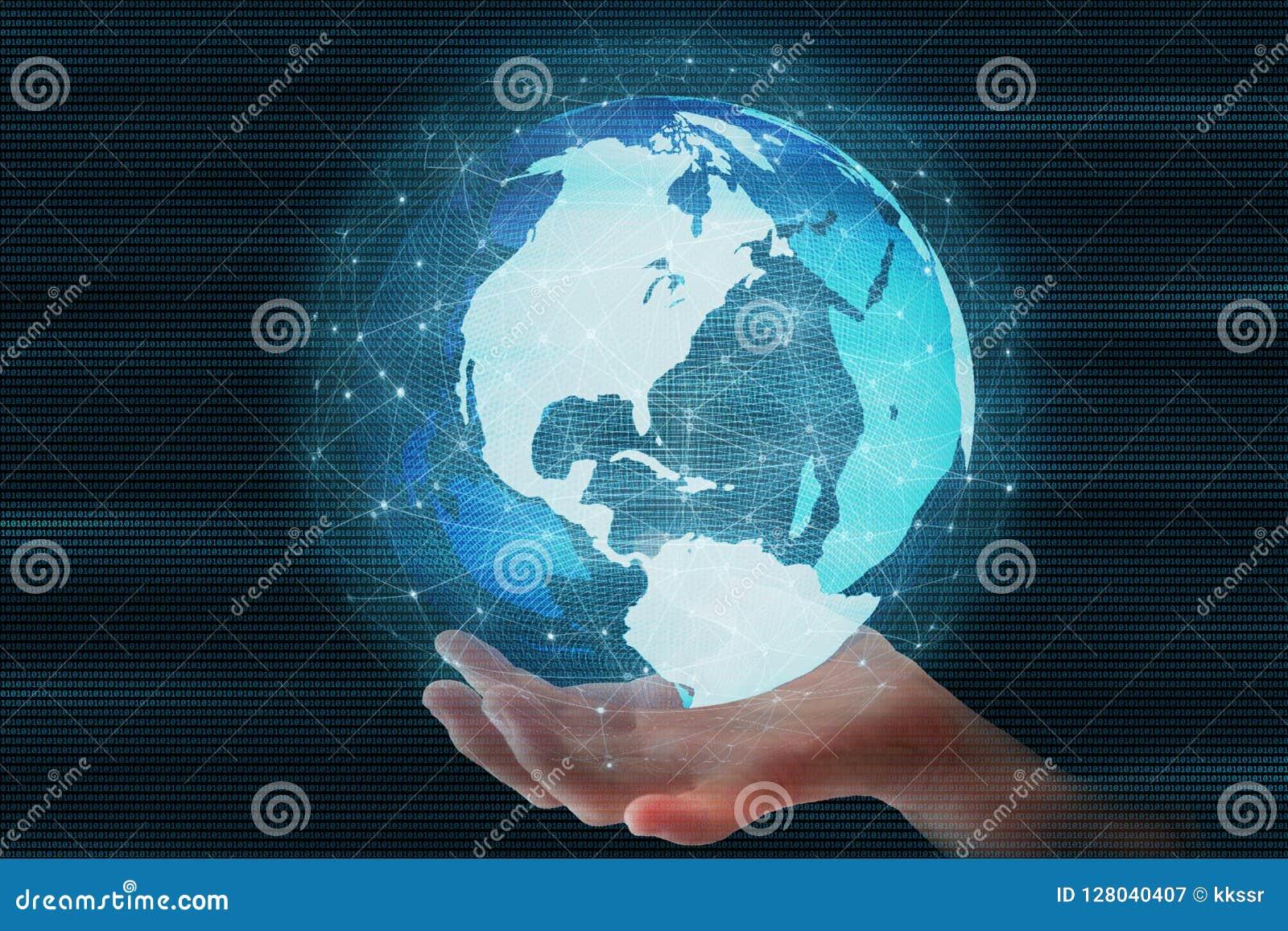 catching fast moving world futuristic globe sphere led surrounded