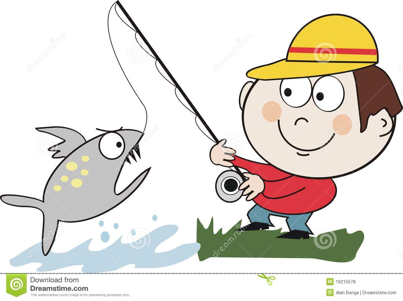 Catching Fish Cartoon Stock Illustration Illustration Of Humorous