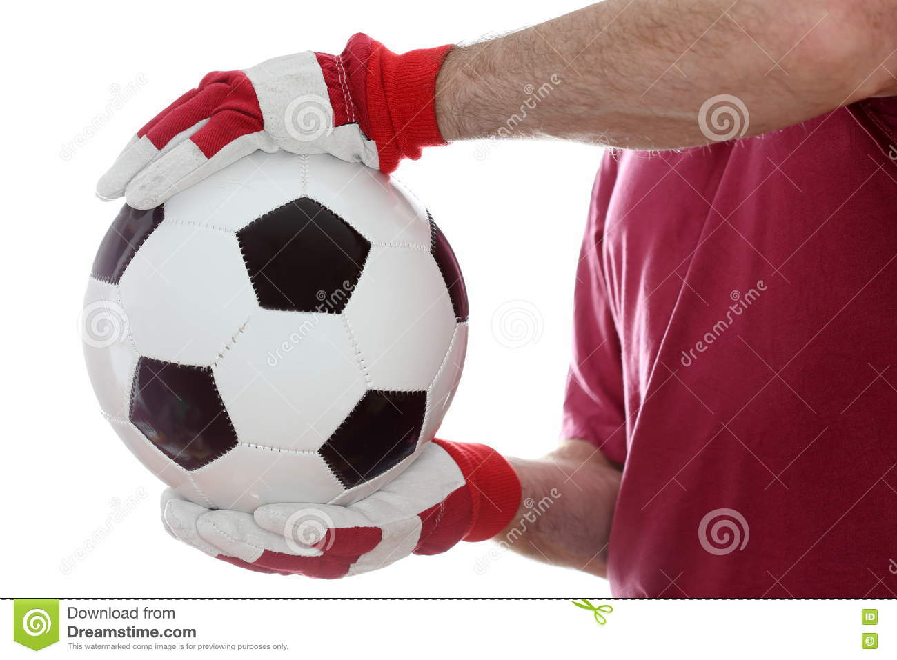 Catching a leather ball