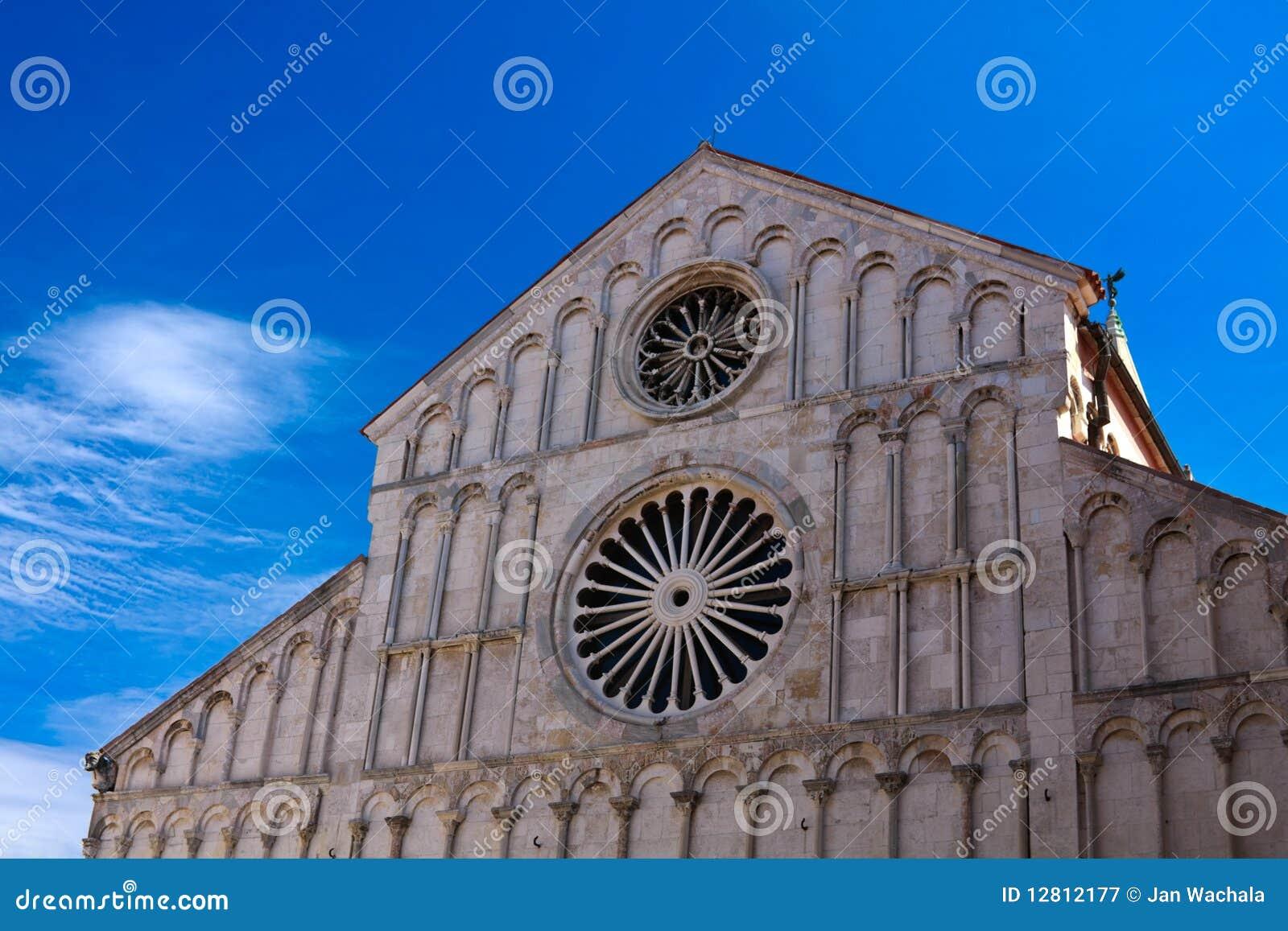 Catedral da fachada de Zadar (Croatia)