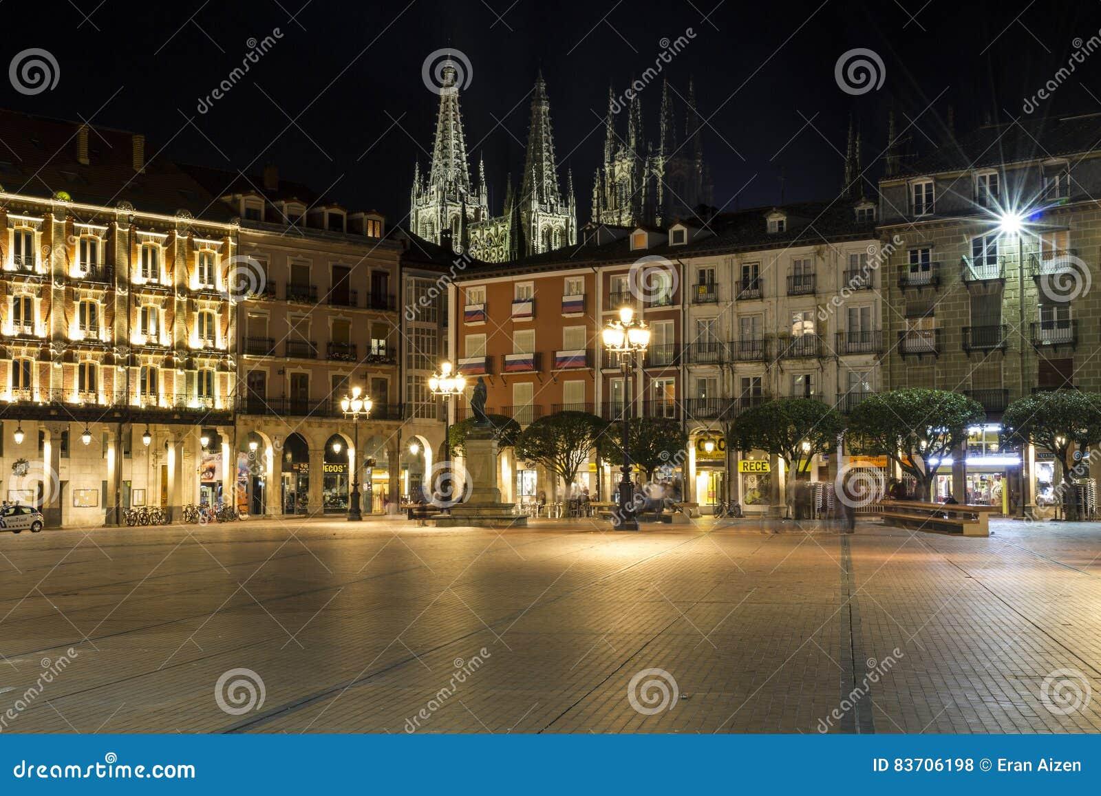 Catedral De Burgos At Night Editorial Stock Photo