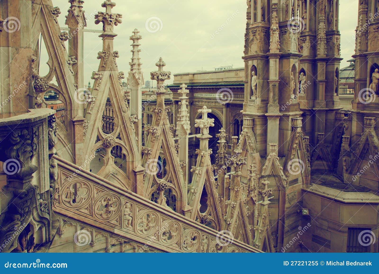 Catedral de Milão, arquitetura. Italy