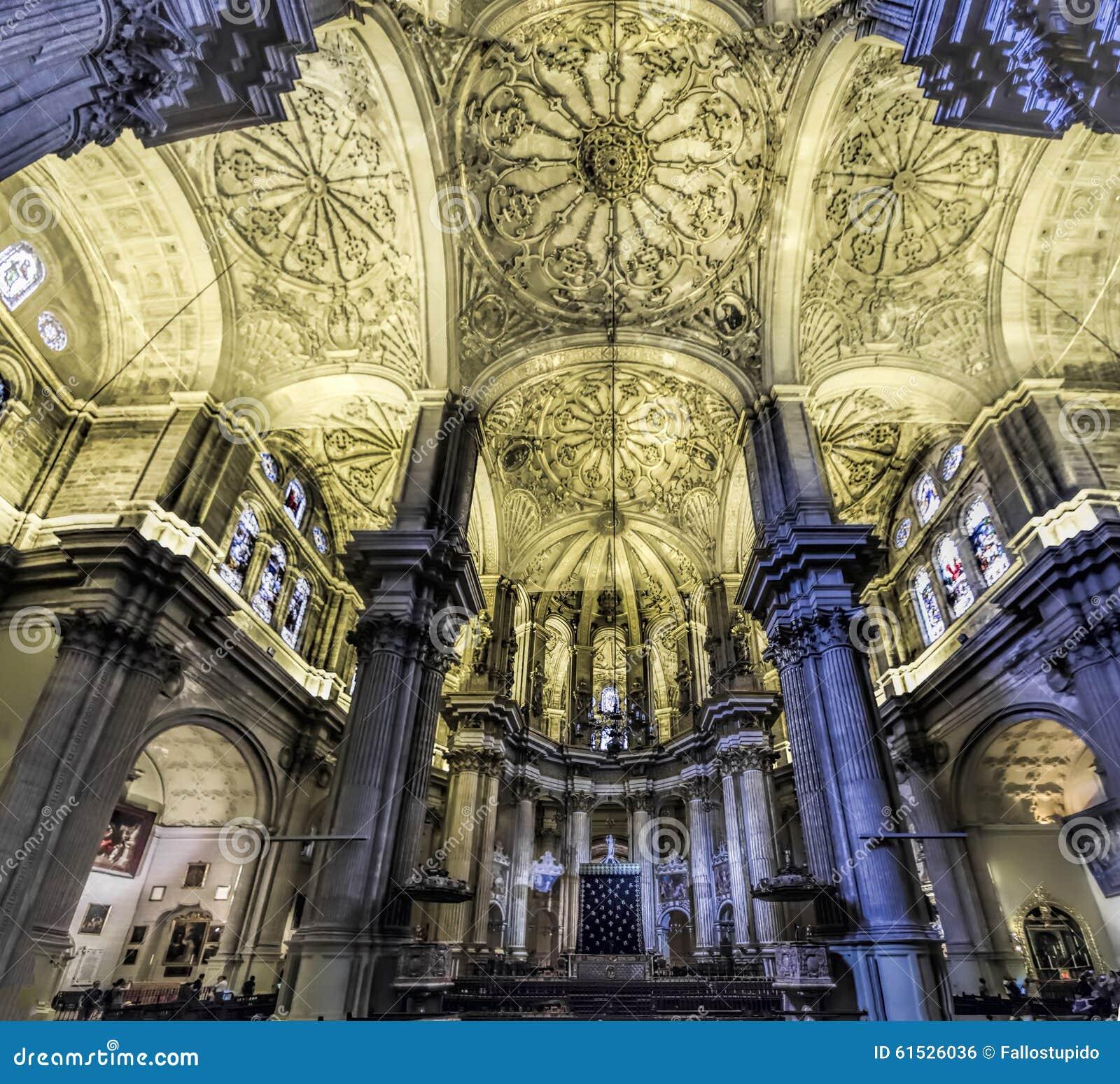 Catedral de m laga interior foto editorial imagen 61526036 - Foto foto interior ...