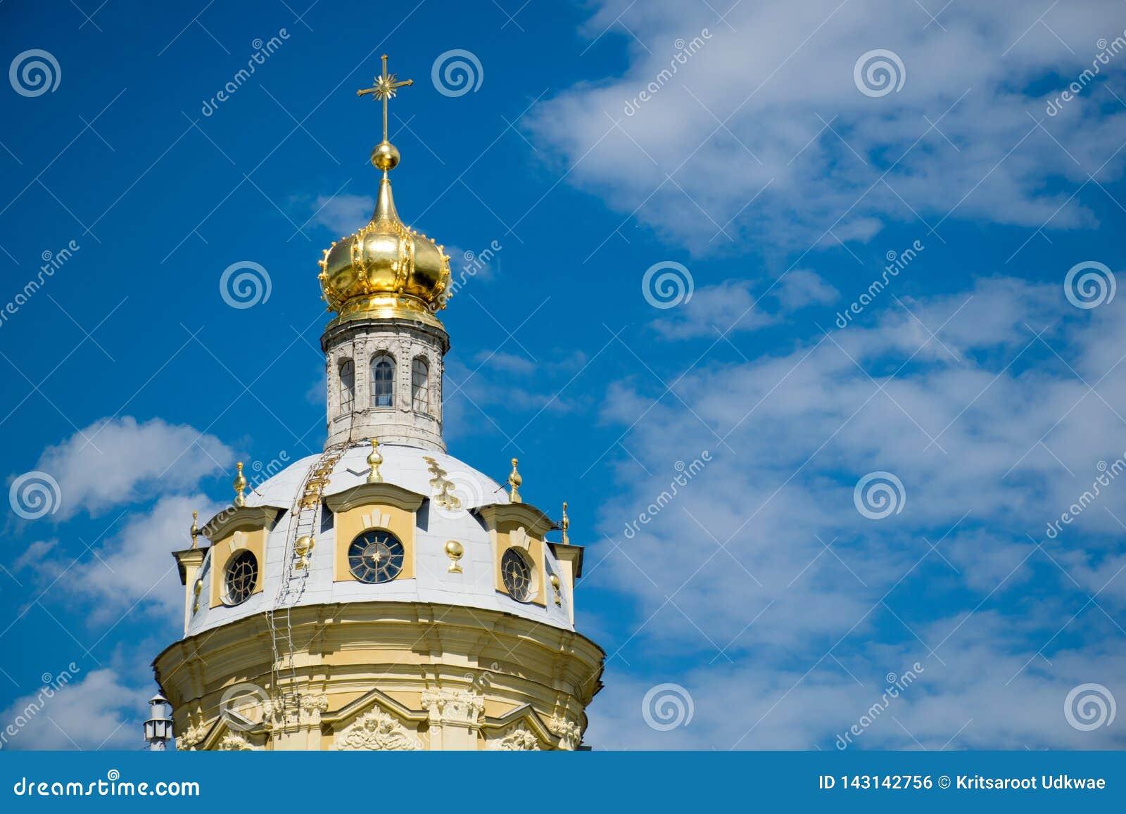 A catedral de Peter e de Paul em St Petersburg, Rússia