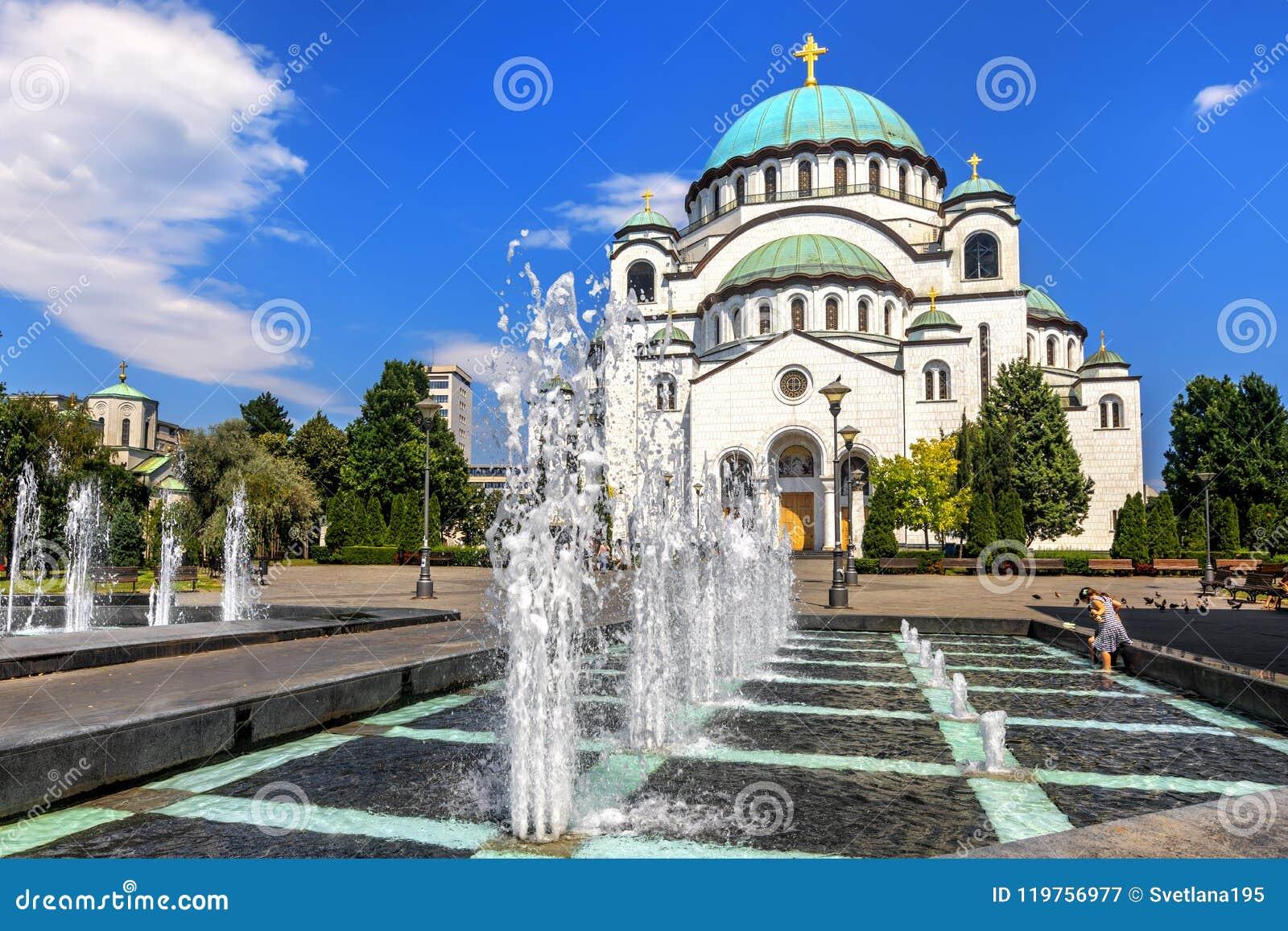 Catedral de Sava de Saint em Belgrado, Sérvia