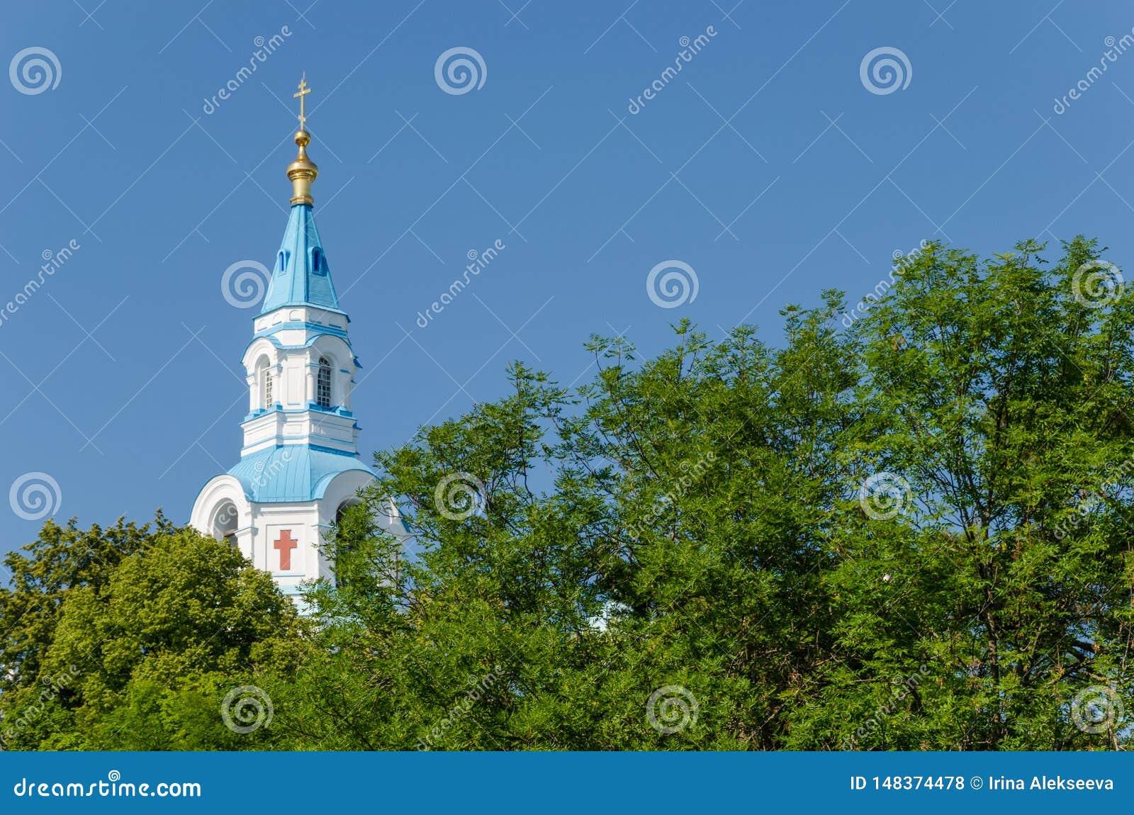Catedral de Spaso-Preobrazhensky do monast?rio de Valaam A torre de sino da catedral ortodoxo Ilha de Valaam, Car?lia, R?ssia