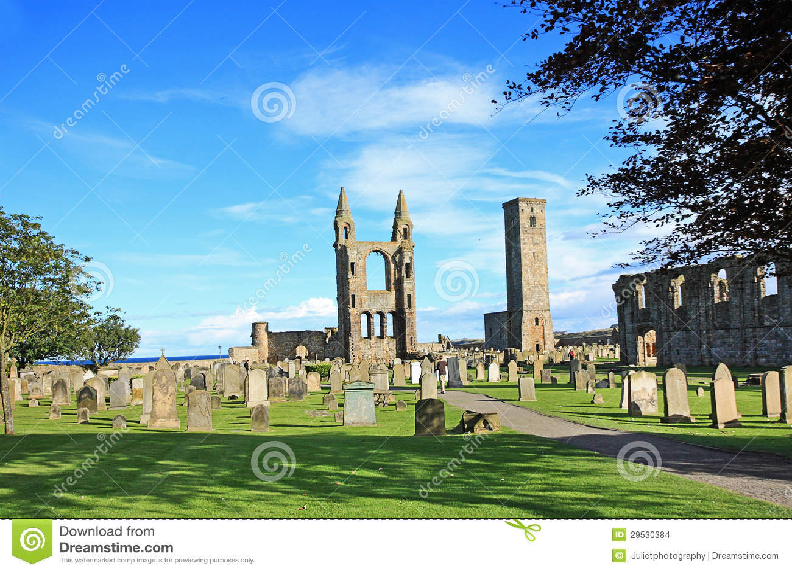 Catedral de St Andrews & torre das regras do St, Scotland