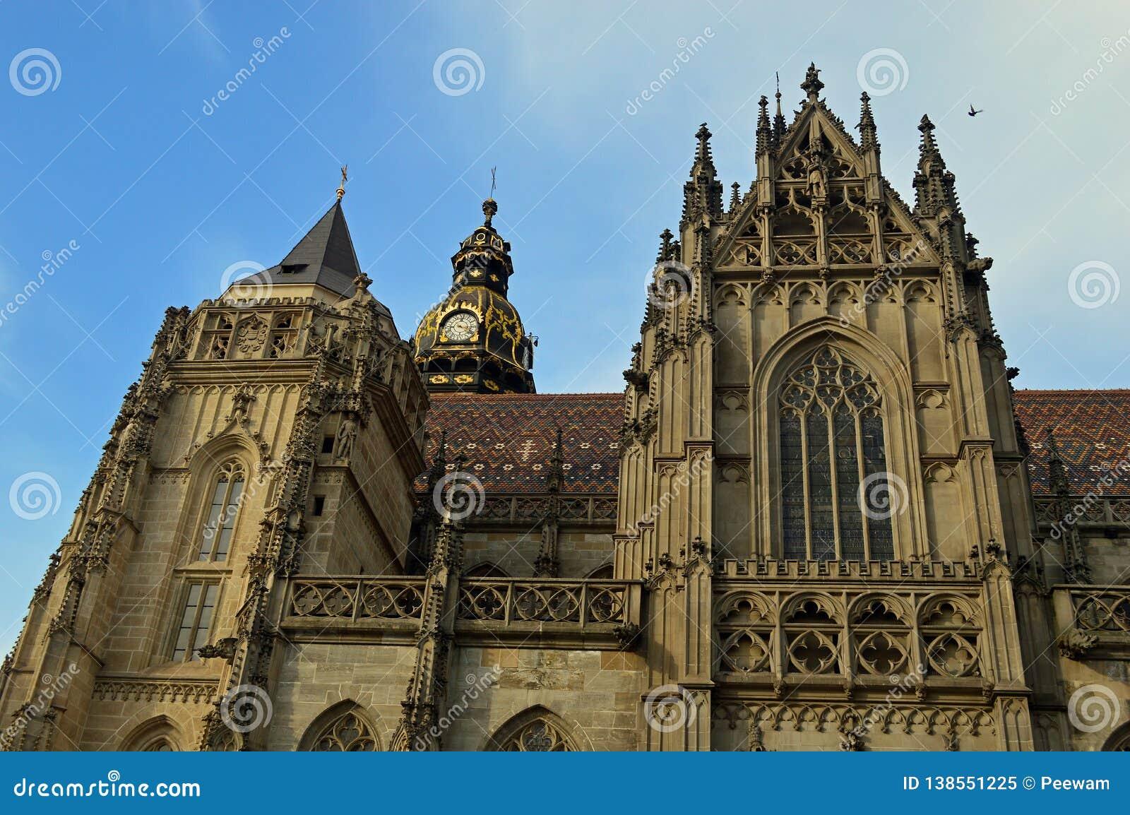 Catedral del St Elisabeth o ¾ Kosice bety Eslovaquia de AlÅ del svätej del ³ m de DÃ