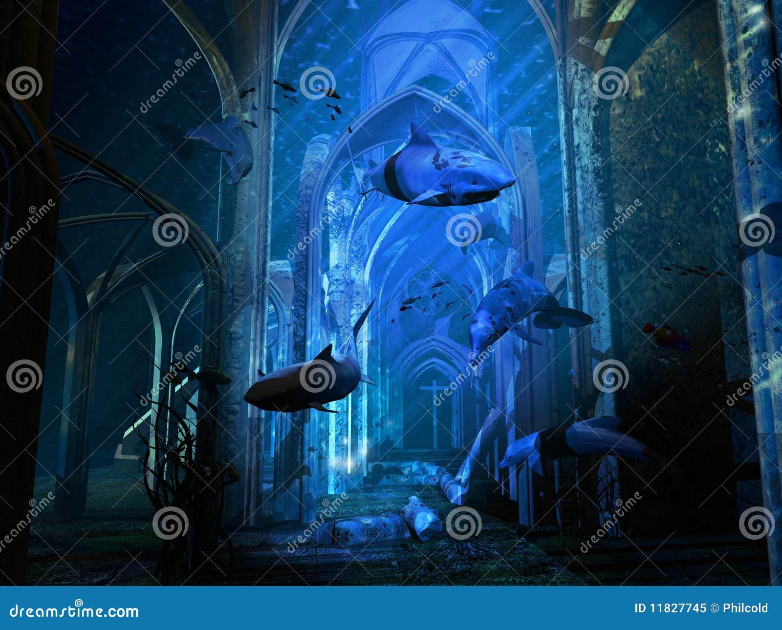 Catedral destruida submarino