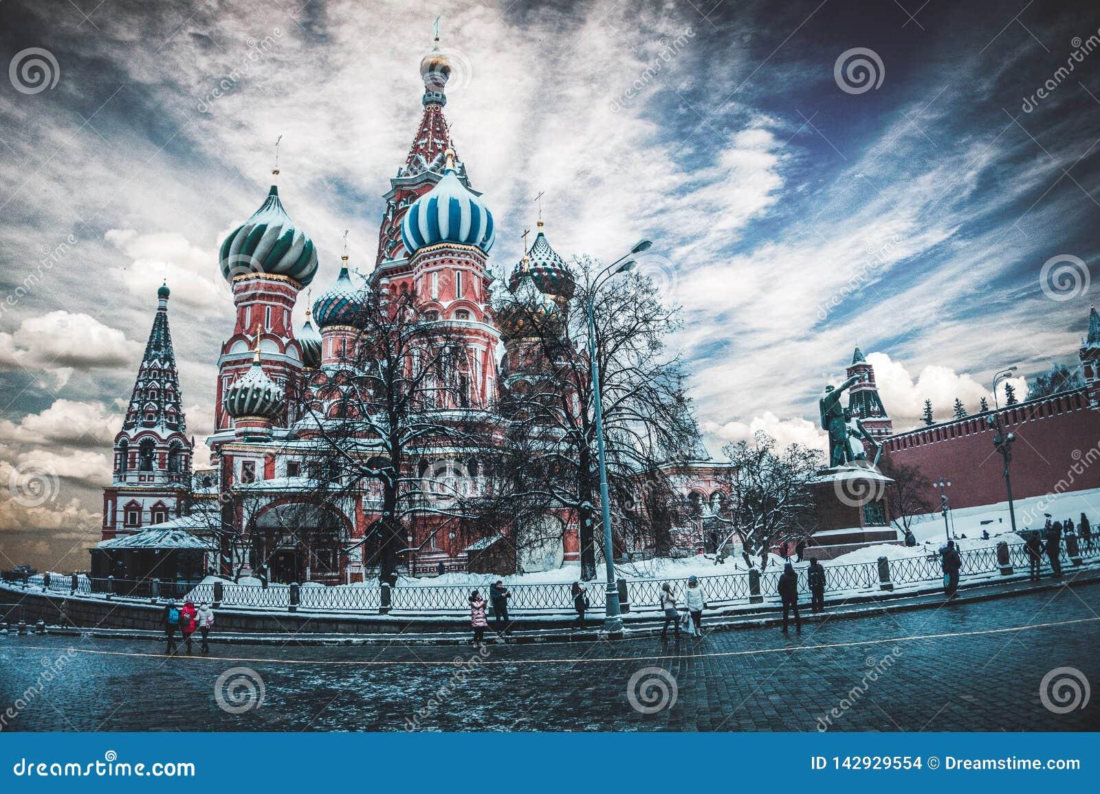 Catedral do ` s da manjericão do St, Moscou, Rússia
