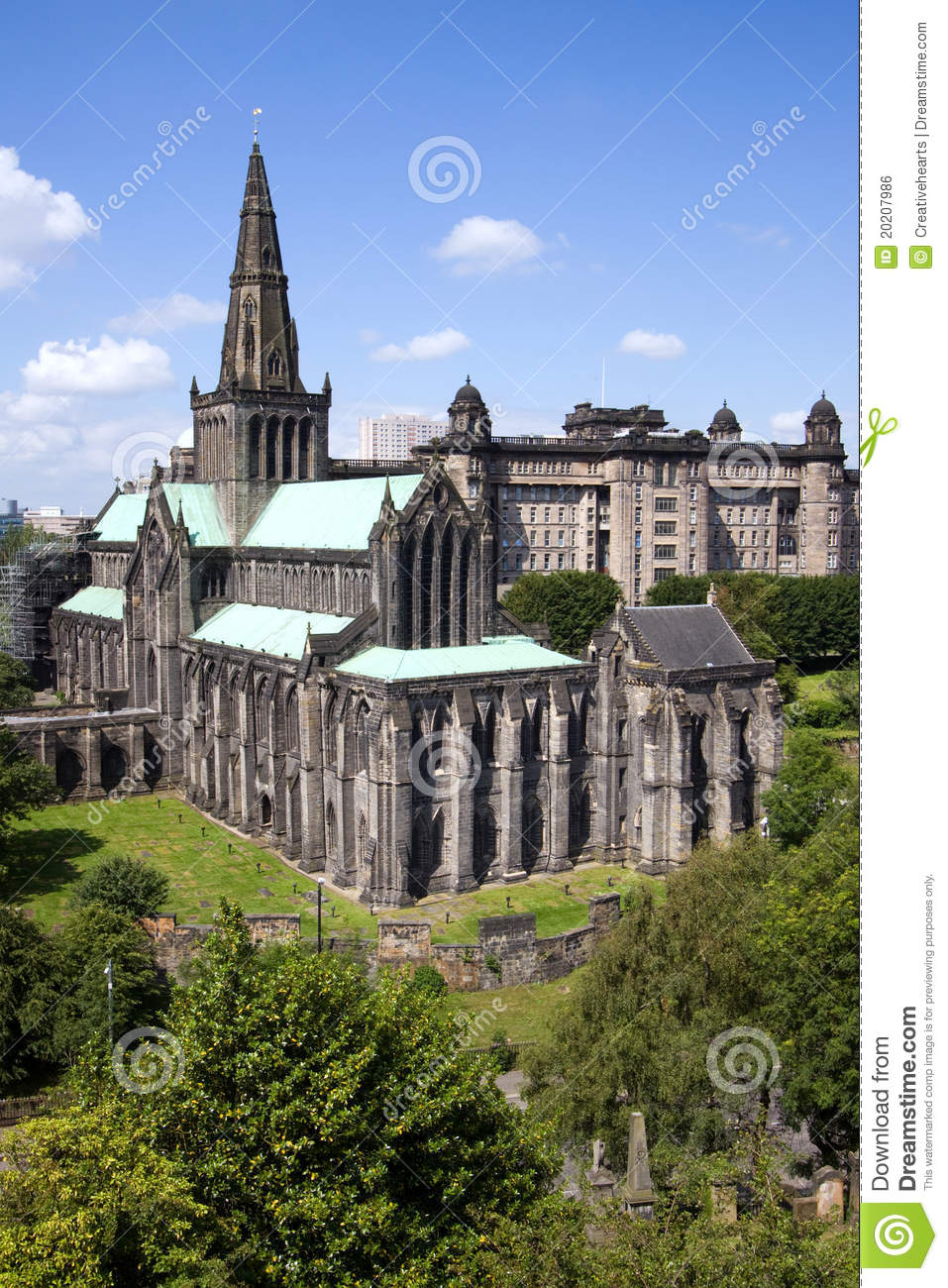 Catedral e necrópolis do Mungo do St de Glasgow