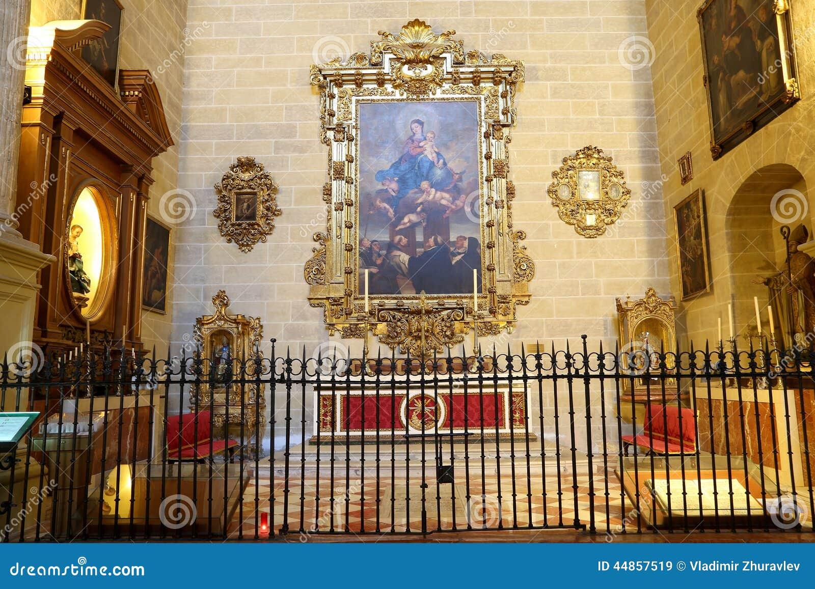 Catedral interior de Málaga--es una iglesia del renacimiento en la ciudad de Málaga, Andalucía, España meridional