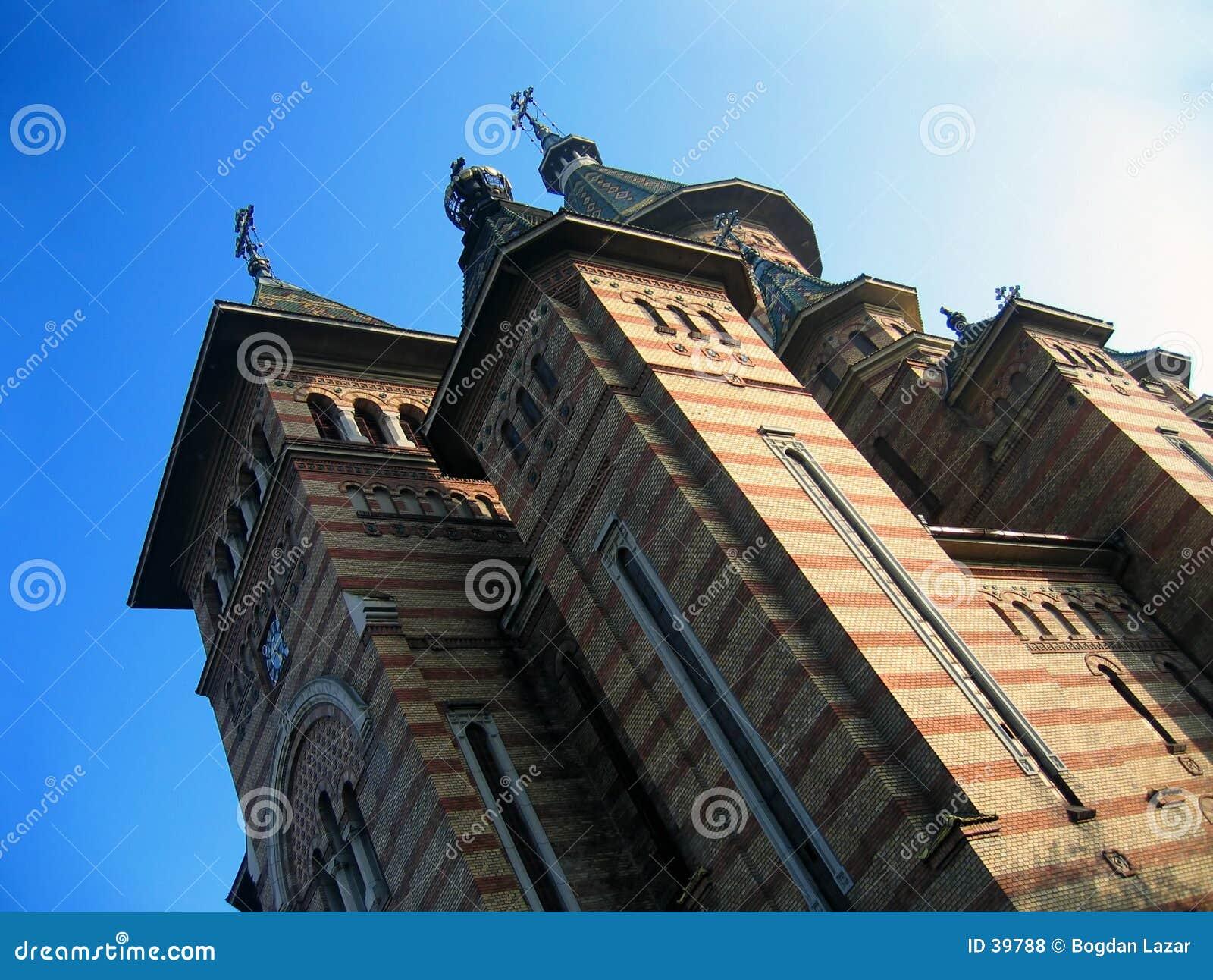 Download Catedral Ortodoxa De Timisoara Foto de archivo - Imagen de estructura, cielo: 39788