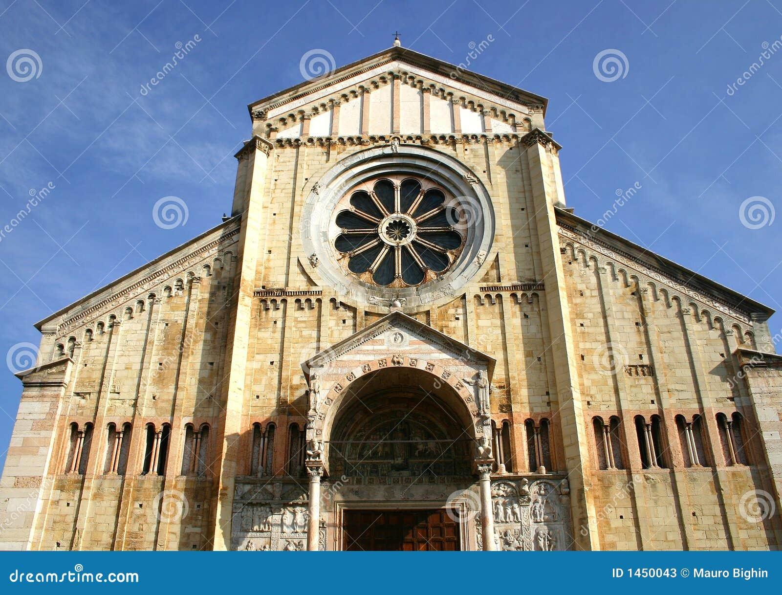 Catedral romance de Zan Zeno en Verona, Italia