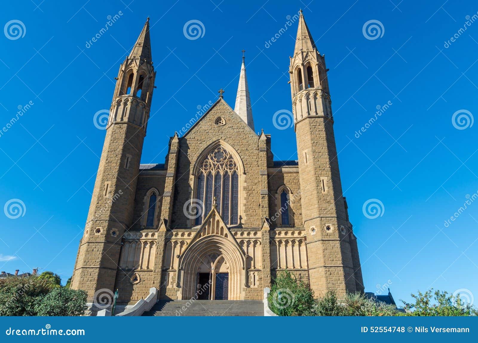 Catedral sagrada del corazón en Bendigo, Australia