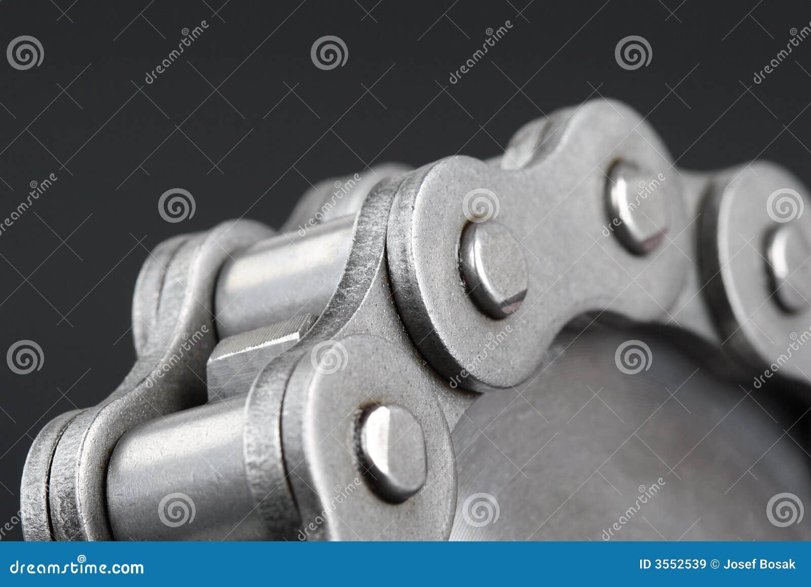 Catena a maglia del metallo e ruota dentata