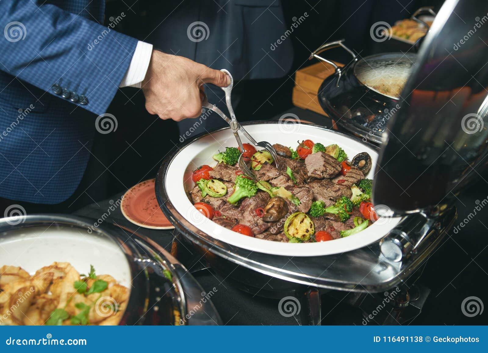 Catering buffet food indoor in luxury restaurant
